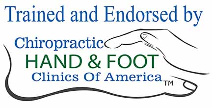 trained and endorsed by chiropractic hand and foot clinics of america